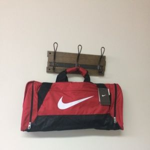 NWT Nike Brasilia 6 Small Duffel Red
